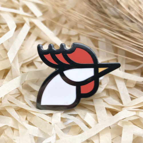 Rooster Enamel Pin, Locking Back, Chicken Pin, Gun Metal Gift, Bird Badge, Hen Jewelry, Geometric Head, Hard Enamel Gift
