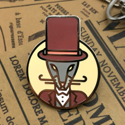 Rat Enamel Pin, 2020 Year Brooch, Christmas Rat Gift, Zodiac Rat, Year Of The Rat, Geometric Mouse, Gun Metal Gift, Chinese Zodiac
